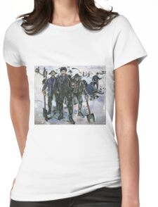 Edvard Munch - Workers In The Snow 1913 Womens Fitted T-Shirt