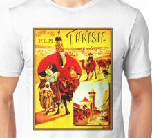 TUNISIA; Vintage Travel Advertising Print Unisex T-Shirt