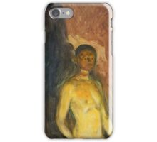 Edvard Munch - Self-Portrait In Hell iPhone Case/Skin