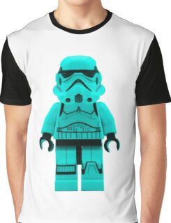 Turquoise Blue Lego Storm Trooper Graphic T-Shirt
