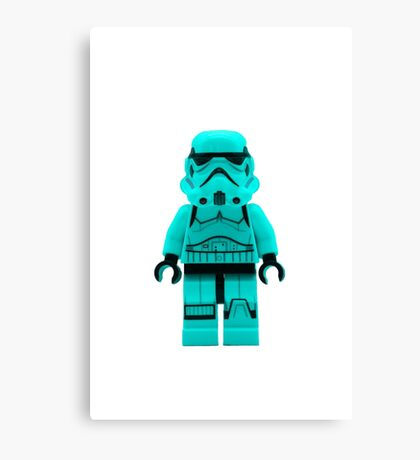 Turquoise Blue Lego Storm Trooper Canvas Print