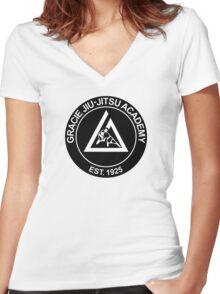 GRACIE BRAZILIAN JIU-JITSU (2) Women's Fitted V-Neck T-Shirt