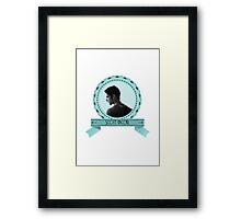 Scott McCall - Badge oval.  Framed Print
