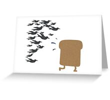 Running Toast Greeting Card