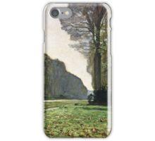 Claude Monet - The Road To Bas-Breau, Fontainebleau (Le Pave De Chailly) 1865  iPhone Case/Skin
