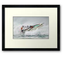 Woolamai takes on Lorne. Lorne wins. Framed Print