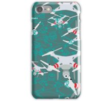 "Quadrocopter ""On The Air"" pattern iPhone Case/Skin"