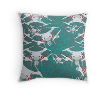 "Quadrocopter ""On The Air"" pattern Throw Pillow"