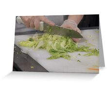 Chopping Vegetables Greeting Card