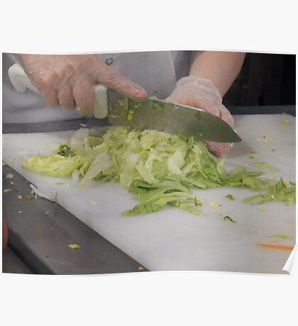 Chopping Vegetables Poster