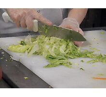 Chopping Vegetables Photographic Print