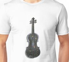 Old Violin with painted symbols Unisex T-Shirt