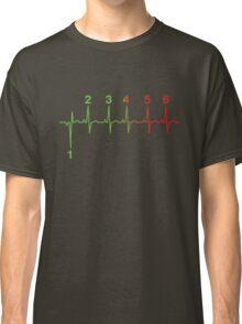 Motorcycle Shifting Gears Life Line Heartbeat Six Speed Rev Tee Shirt Classic T-Shirt