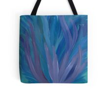 Blue and Purple Leaves - Abstract Tote Bag