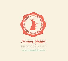 Curious Rabbit Logo  by Kate Mularczyk