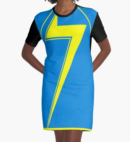 Lightning Zag Graphic T-Shirt Dress