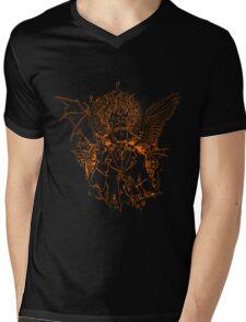 Demon Mephistopheles (linework) Mens V-Neck T-Shirt