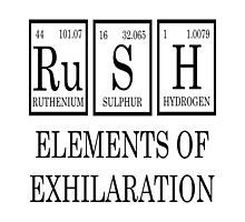 RUSH Elements Of Exhilaration Periodic Table Tee by raineOn