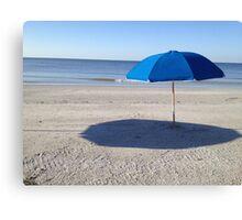 Lonely Island Umbrella Canvas Print