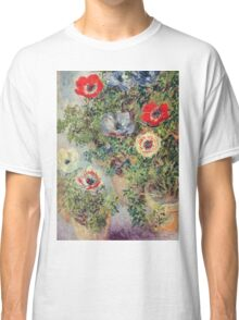 Claude Monet - Stilll Life With Anemones Classic T-Shirt