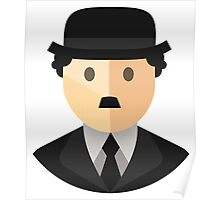 Charlie Chaplin Icon Poster