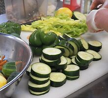 Sliced Cucumbers by SheilaBailey