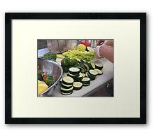Sliced Cucumbers Framed Print
