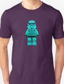 Turquoise Blue Lego Storm Trooper Unisex T-Shirt