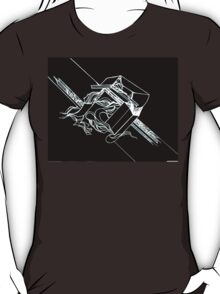 Multi Dimensional Abstract Ink Inverted T-Shirt