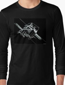 Multi Dimensional Abstract Ink Inverted Long Sleeve T-Shirt