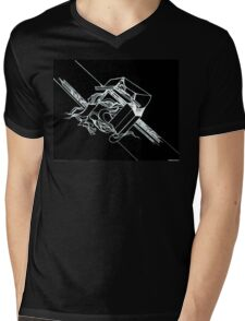 Multi Dimensional Abstract Ink Inverted Mens V-Neck T-Shirt