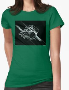 Multi Dimensional Abstract Ink Inverted Womens Fitted T-Shirt