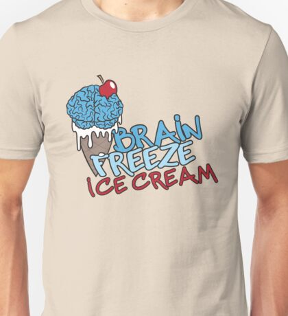 Brain Freeze Ice Cream Logo Unisex T-Shirt