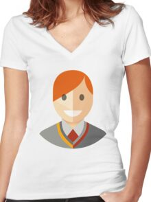 Ron Icon Women's Fitted V-Neck T-Shirt