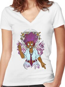 Deity Providence (colors) Women's Fitted V-Neck T-Shirt