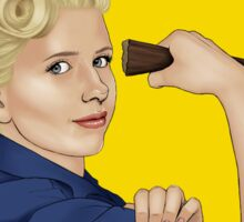 Buffy, the riveter. WE CAN DO IT Sticker