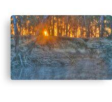 Foggy Goulburn Sunrise Canvas Print