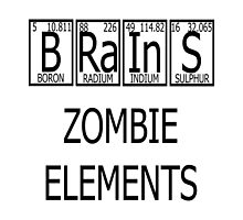 Brains Zombie Elements Periodic Table by raineOn
