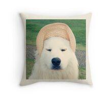 Finn the Hat Dog Throw Pillow