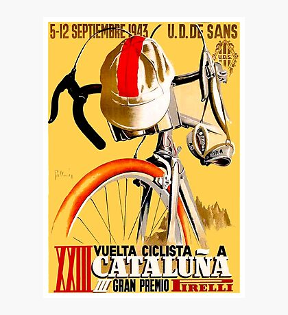 CATALUNA GRAND PRIX; Vintage Bicycle Advertising Photographic Print