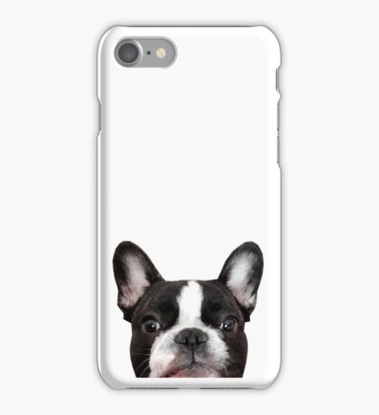 French bulldog, Vincent the frenchie iPhone Case/Skin