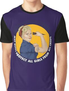 Buffy, the riveter. MAY BUFFY PROTECT YOU Graphic T-Shirt