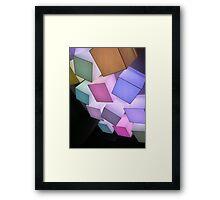 Glow Cubes #1 Framed Print