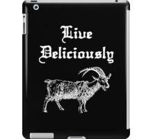 LIVE DELICIOUSLY - Black Phillip  iPad Case/Skin