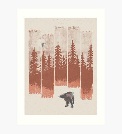 A Bear in the Wild... Art Print