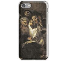Goya - Hombres Leyendo Men reading iPhone Case/Skin