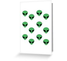 Outer Space - Alien Greeting Card
