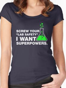 Funny Lab Safety Science Geek Humor T-shirt Women's Fitted Scoop T-Shirt