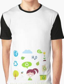 Recycle, nature and ecology icons isolated on white background Graphic T-Shirt