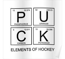 PUCK Elements Of Hockey Poster